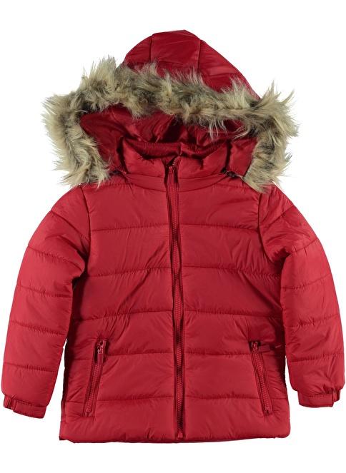 Morhipo Kids Kapüşonlu Tüylü Mont Kırmızı